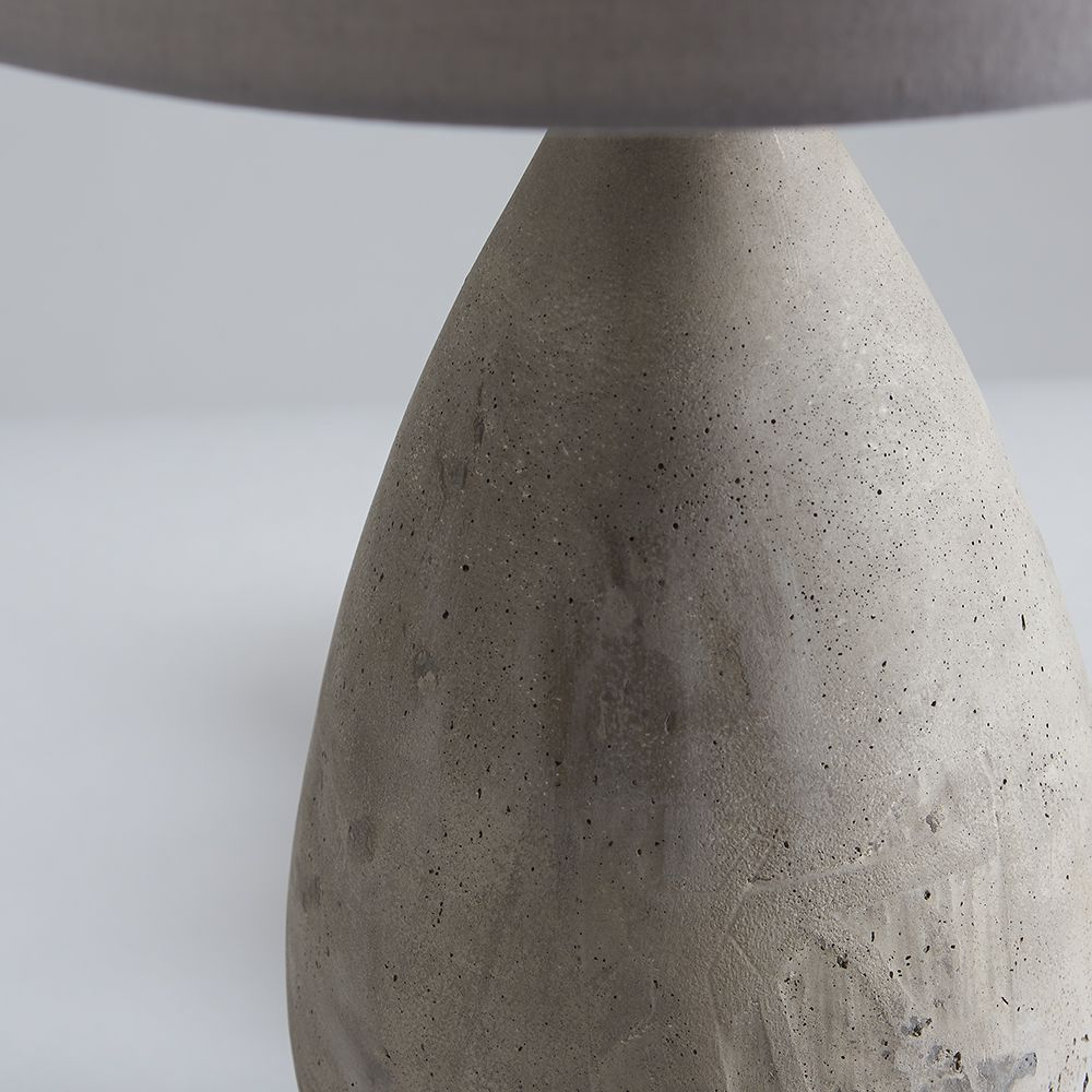 Hayward Concrete Table Lamp And Shade